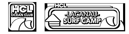 Logo HCL Ocean Club et HCL surf camp