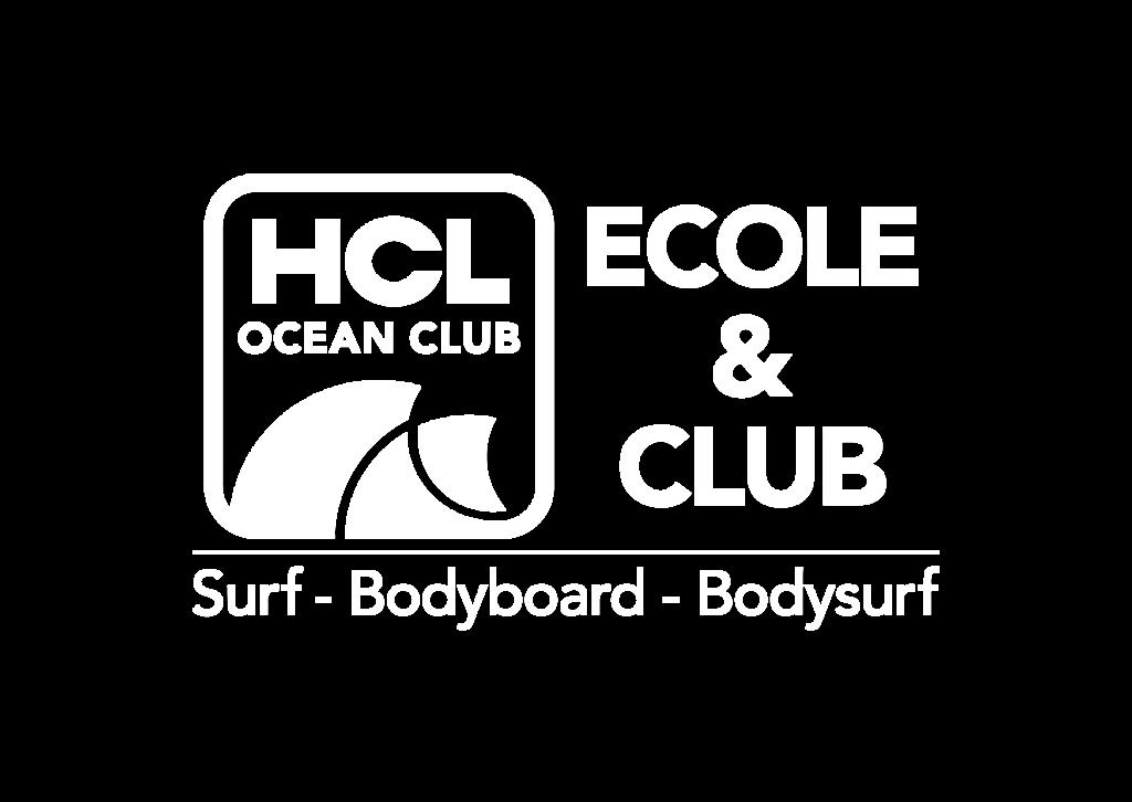 Logo Hcl Océan Club Ecole & club Surf Bodyboard Bodysurf
