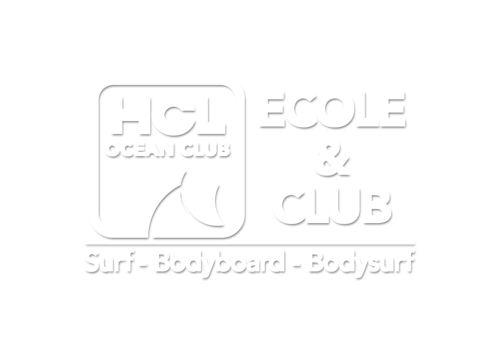 Logo HCL Océan Club Ecole et club de surf à Lacanau